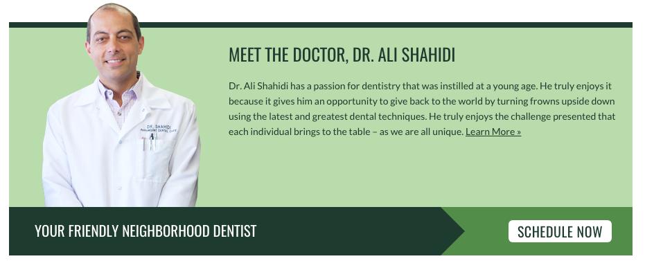 template dental website example