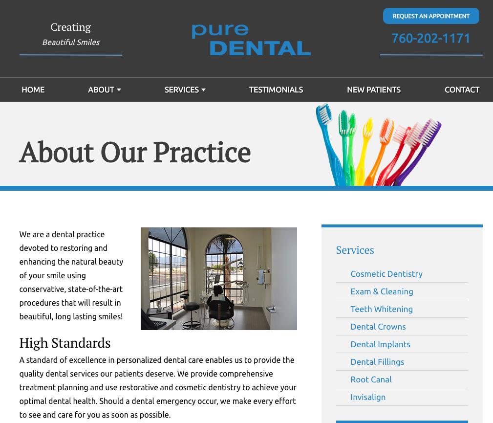dental website template example