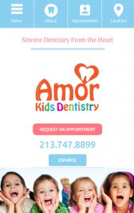 mobile website for pediatric dentists