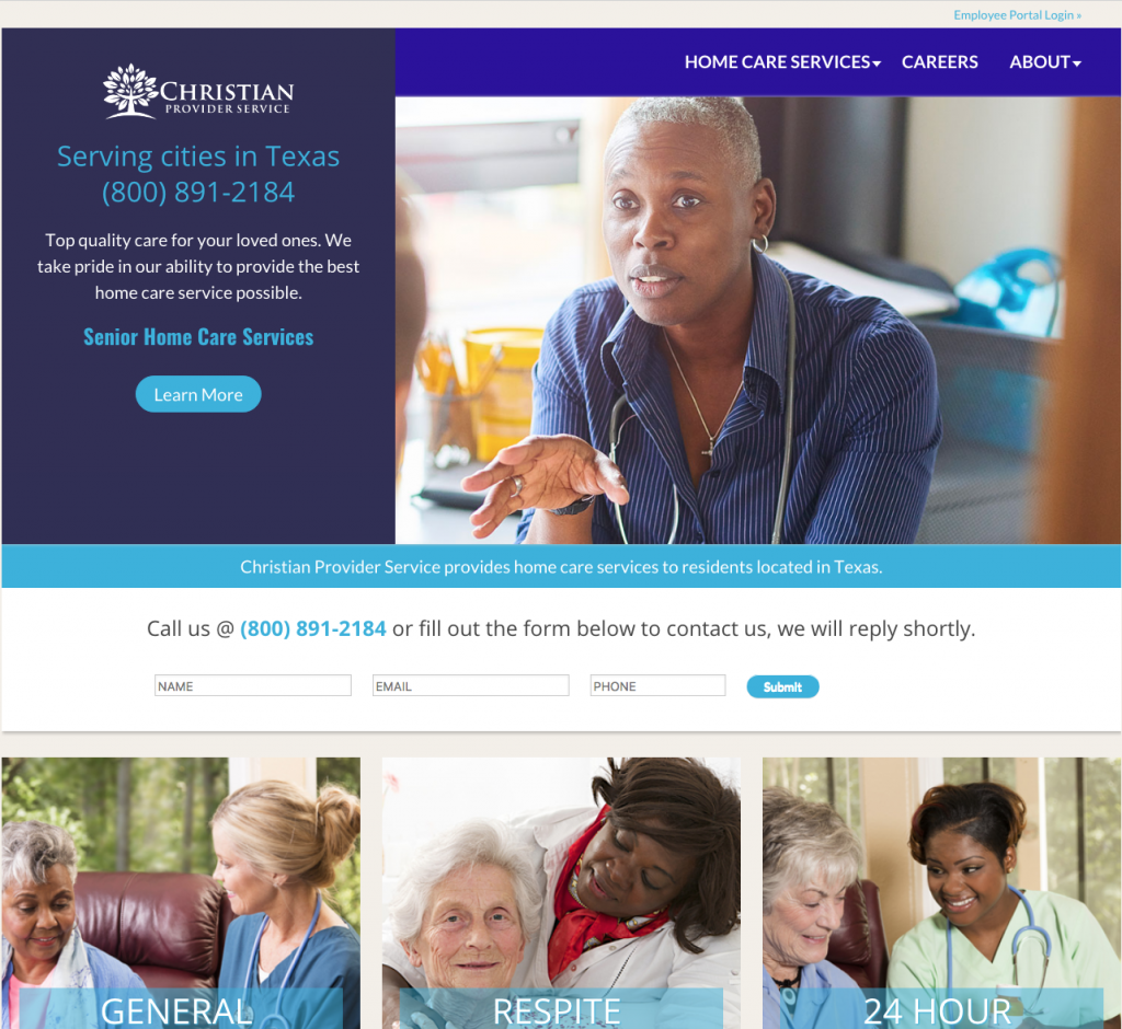 Elderly Home Care Website Design
