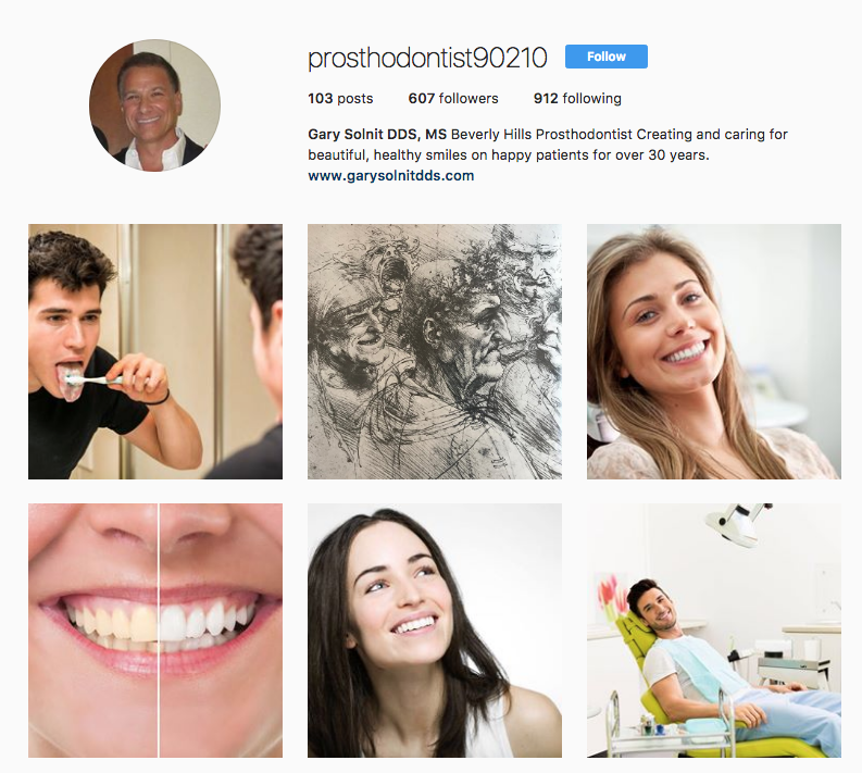 instagram for dentists