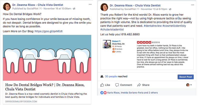 online reviews for dentists