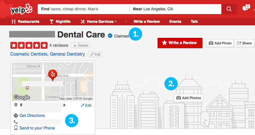 yelp dentists marketing